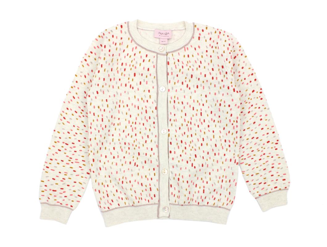74787be5 Noa Noa Miniature cardigan multicolour | Basic cotton | TILBUD