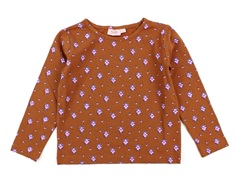 Noa Noa Miniature t-shirt print brown flower