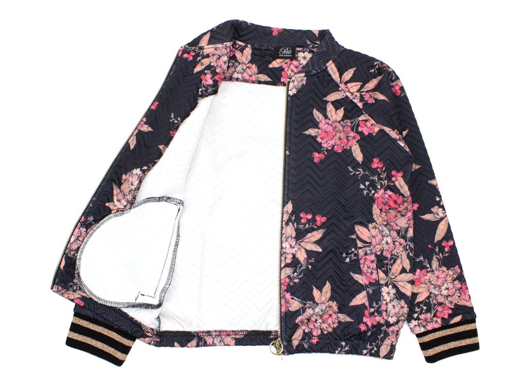 923c1c0f344 Petit by Sofie Schnoor jakke black flower | Børnetøj | UDSALG