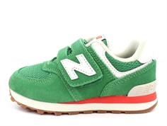 New Balance sneaker varsity green/ghost pepper