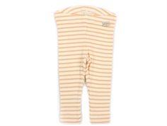 Petit Piao leggings peach naught/eggnog striber