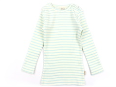 Petit Piao t-shirt starlight blue/eggnog striber