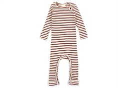 Petit Piao jumpsuit modal wild ginger/beige striber
