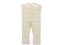 Petit Piao leggings natural/eggnog striber
