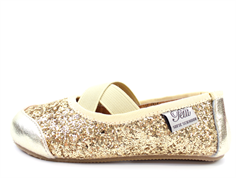 Petit by Sofie Schnoor ballerina champagne med glimmer