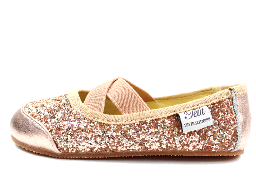 9ae433522ab Petit by Sofie Schnoor ballerina rose gold glimmer | P816C | str. 24 ...