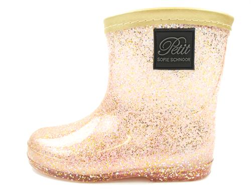 c8217f298b1 Petit by Sofie Schnoor gummistøvler gold/rose glitter | P182770 | str.  22-28 | UDSALG