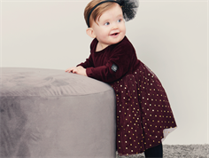Petit by Sofie Schnoor kjole dark red velour