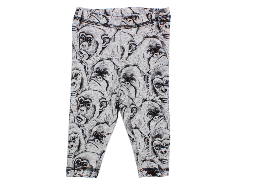 88fa38ea6ef Petit by Sofie Schnoor Monkey leggings grey melange | Babytøj fra ...