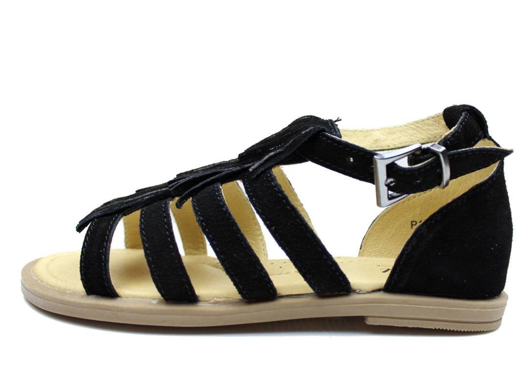 d343b512 Petit by Sofie Schnoor sandal sort ruskind med frynser | P171663 ...