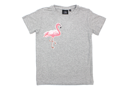 Petit by Sofie Schnoor t-shirt grey melange flamingo