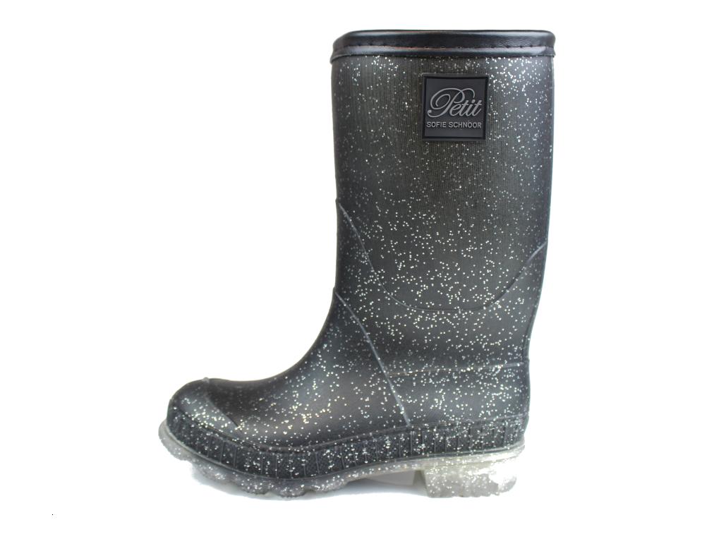 5b933261 Petit by Sofie Schnoor gummistøvler sort glimmer| P164705X black ...