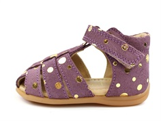 Pom Pom sandal purple gold dot med velcro