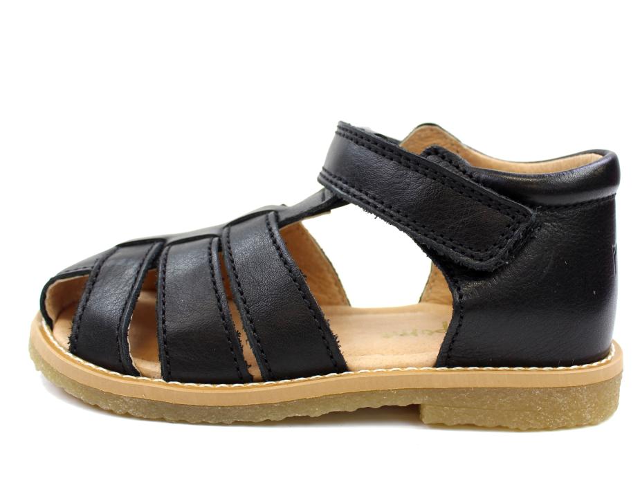 fb094ea3bf6 Pom Pom sandaler sort læder | 6394/67 | Kæmpe sommerudsalg hos MilkyWalk