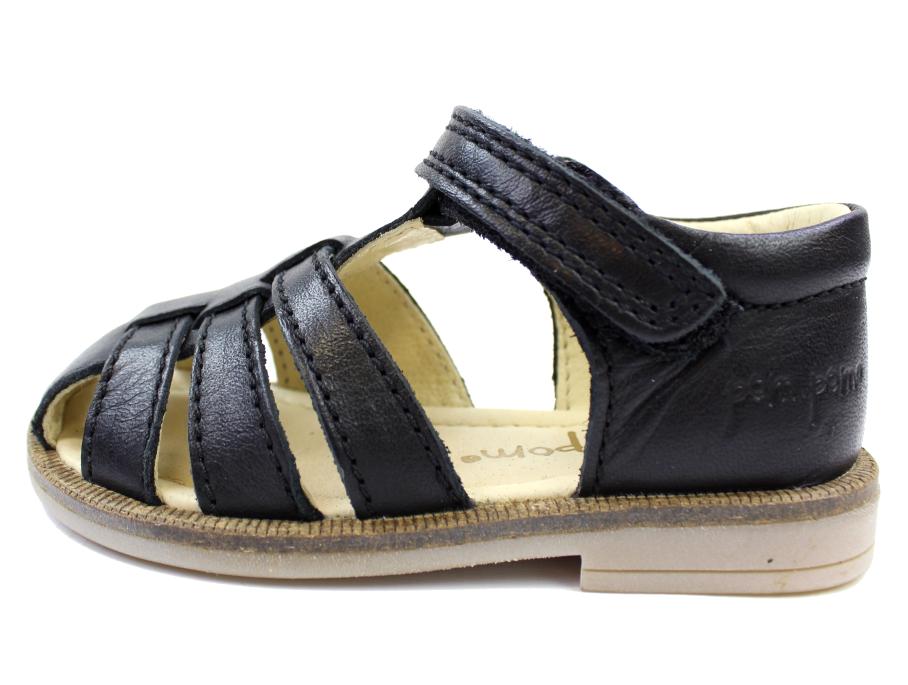 ef3121dd3a0 Pom Pom sandaler sort læder | 4210/15 Black | str. 20-26 | UDSALG
