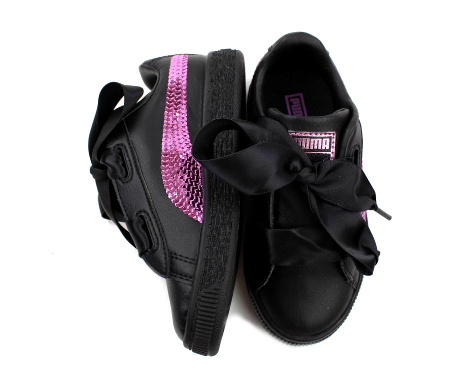 Puma sneaker Basket heart bling puma black orchid 9b46180c3