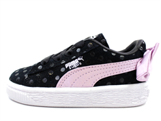 Puma sneaker Suede bow dots black winsome/orchid silver