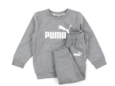 Puma sweatshirt og bukser minicats crew jogger medium gray heather