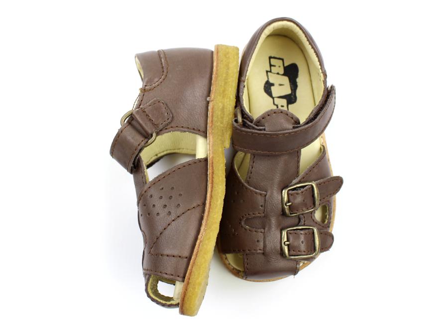 a2f8578224ce Arauto RAP sandal dark brown med spænder og velcro