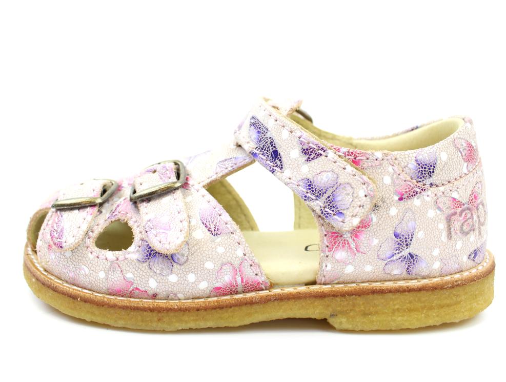 69901e07a Arauto RAP sandal butterfly peach med spænder og velcro