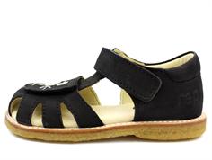32962e2bd004 Arauto RAP sandal black med blomsterbroderi (smal)