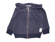 Small Rags sweat cardigan jakke dark navy Bay jacket