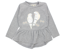 Small Rags Grace kjole grey melange