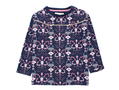 Small Rags sweatshirt mood indigo flower glitter