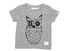 Soft Gallery Bass t-shirt owl grey melange
