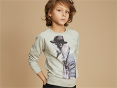 Soft Gallery Chaz sweatshirt grey black monkeyart