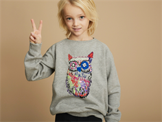 Soft Gallery Chaz sweatshirt grey melange owl
