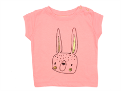 Soft Gallery Nelly t-shirt med hare neon orange