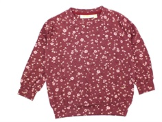 Soft Gallery bluse Galou oxblood red flowery