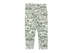 Soft Gallery leggings Paula cream owl green