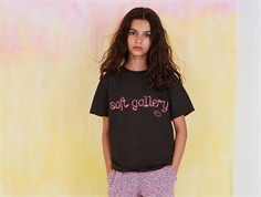 Soft Gallery t-shirt Dominique peat neon lips