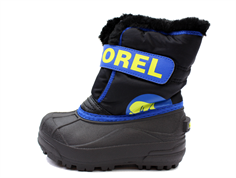 Sorel vinterstøvle Snow Commander black/super blue