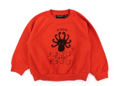 Mini Rodini sweatshirt octopus rød