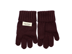 MarMar Aske fingervanter dark plum