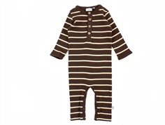 Wheat jumpsuit brown striber