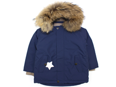 Mini A Ture vinterjakke Wally fur peacoat blue