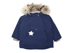 Mini A Ture vinterjakke Wang Fur peacoat blue