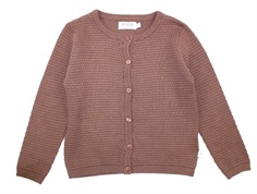 Wheat cardigan Manuela powder plum