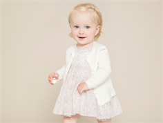 Wheat Pinafore kjole ivory blomster