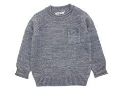 Wheat pullover Joel strik melange grey