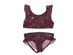 Wheat bikini Elina soft eggplant flowers