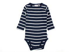 Wheat body navy striber