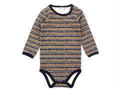 Wheat body midnight blue stripe