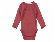 Wheat body rib burgundy med blonde
