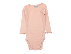 Wheat body rib misty rose med blonde
