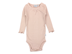 Wheat body rib lace rose powder